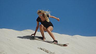 Sandboarding at Blesberg